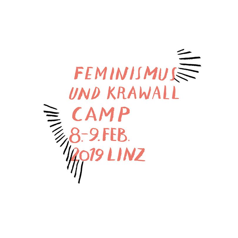 Feminismus & Krawall Camp 2019 in Linz | Illustration © Silke Müller
