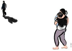 Der Bettelprinz von Vera Vasilkovic, Boulevardzeitung Augustin, Illustration: © Silke Müller | Linz