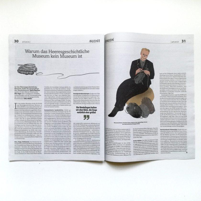 Warum das Heeresgeschichtliche Museum kein Museum ist | Boulevardzeitung Augustin, Illustration: Silke Müller