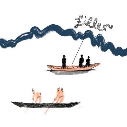 Zillen, Zeichnung, Donaukalender 2020 | Illustration: Silke Müller | Linz