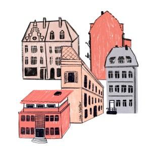 Häuser, Wien, Immobilien, Illustration: Silke Müller