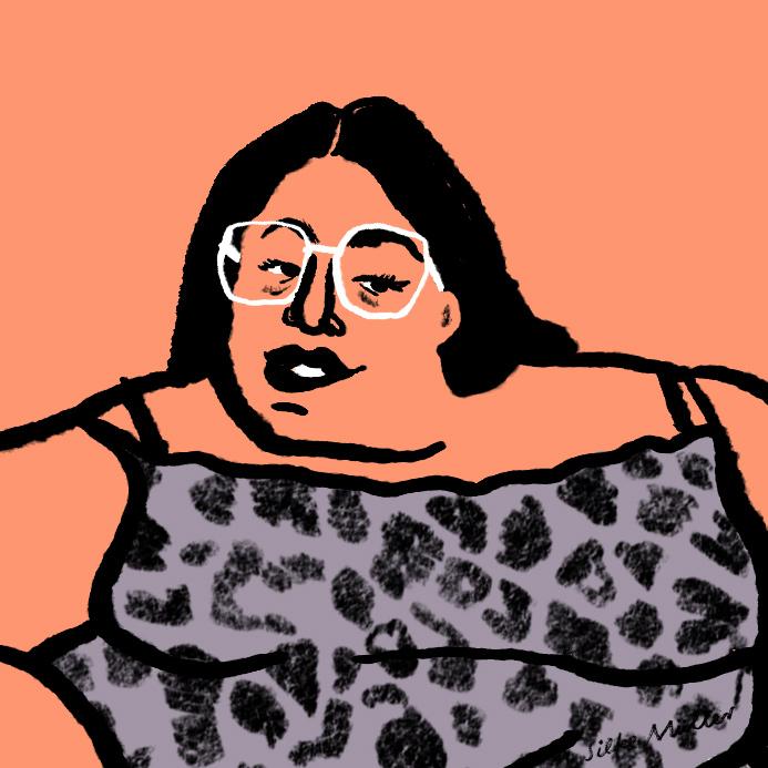 Bodyneutrality| Illustration: Silke Müller | Anschläge Magazin / Text: Elisabeth Lechner @femsista