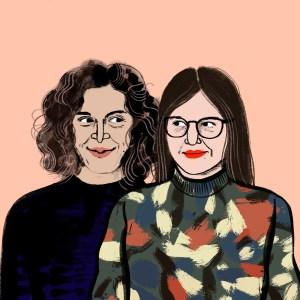 Portrait von Ranya Schauenstein und Dora Wojna | Illustration: ©Silke Müller