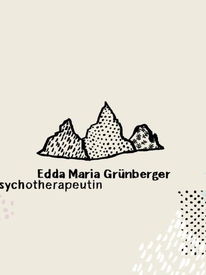 Illustrierte Website für Edda Grünberger | Psychotherapie · Supervision · Coaching Systemische Familientherapie Kinder- und Jugendlichenpsychotherapie Phronetische Kunsttherapie