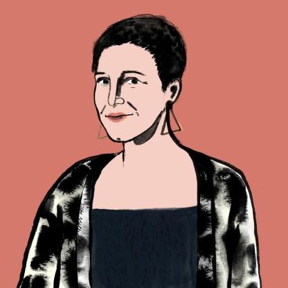 Portrait von Ina Regen | Illustration: ©Silke Müller