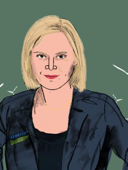GrosseTöchter Podcast   Agnes Zauner   Global 2000 Illustration Silke Müller