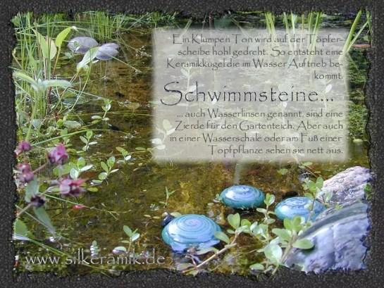 """""""Schwimmsteine"""" oder auch """"Wasserlinsen"""" im Gartenteich"""