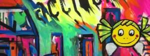 Graffiti und Schablone