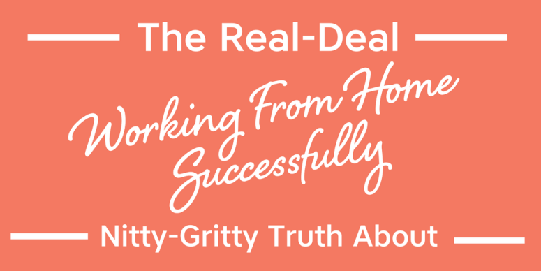 Working from home successfully is more than just a glammed up pipe dream. It takes a lot of dedication and discipline. Let me share some insights with you! - {SOS TV} Episode #18 - The Real-Deal Nitty-Gritty Truth About Working From Home Successfully