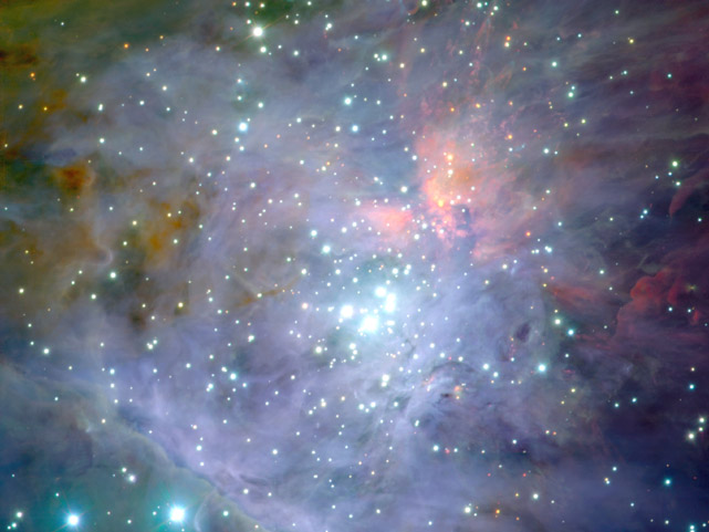 El Trapecio, en el corazón de la Nebulosa de Orión