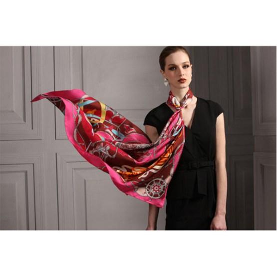110cm Silk Scarf-Square Silk Scarf-Wholesale Scarfs-HA0010A