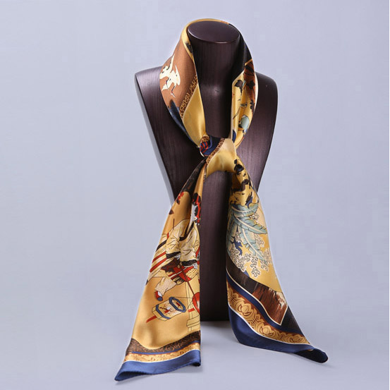 110cm Silk Scarf-Square Silk Scarf-Wholesale Scarfs-HA0013B