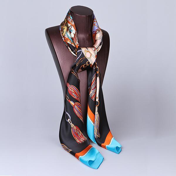 110cm Silk Scarf-Square Silk Scarf-Wholesale Scarfs-HA0017B
