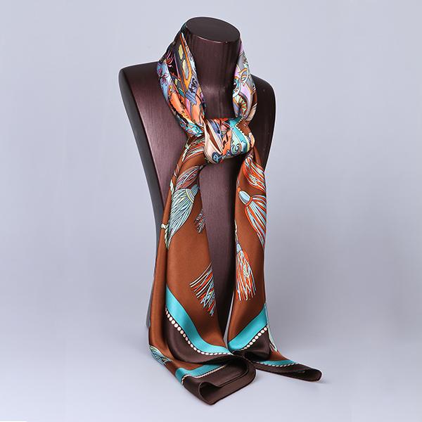 110cm Silk Scarf-Square Silk Scarf-Wholesale Scarfs-HA0017E