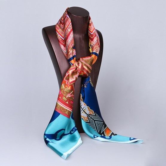 110cm Silk Scarf-Square Silk Scarf-Wholesale Scarfs-HA0019A