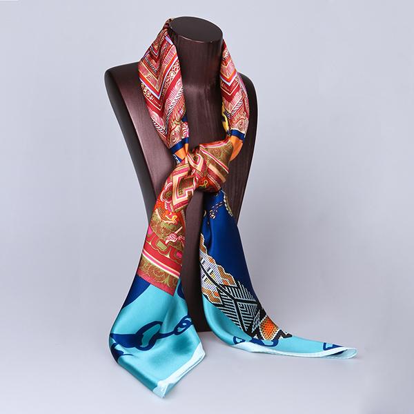 110cm Silk Scarf-Square Silk Scarf-Wholesale Scarfs-HA0019A