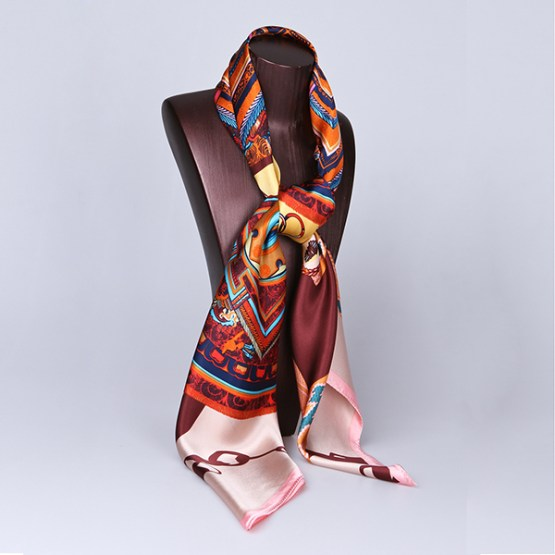 110cm Silk Scarf-Square Silk Scarf-Wholesale Scarfs-HA0019B