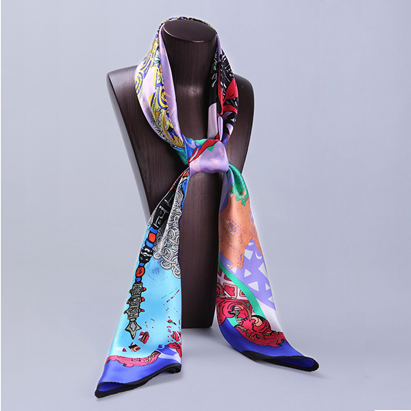 110cm Silk Scarf-Square Silk Scarf-Wholesale Scarfs-HA0020A