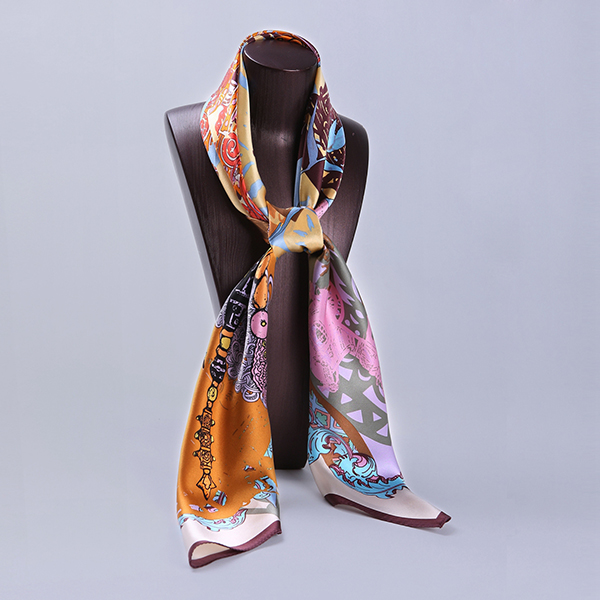 110cm Silk Scarf-Square Silk Scarf-Wholesale Scarfs-HA0020D