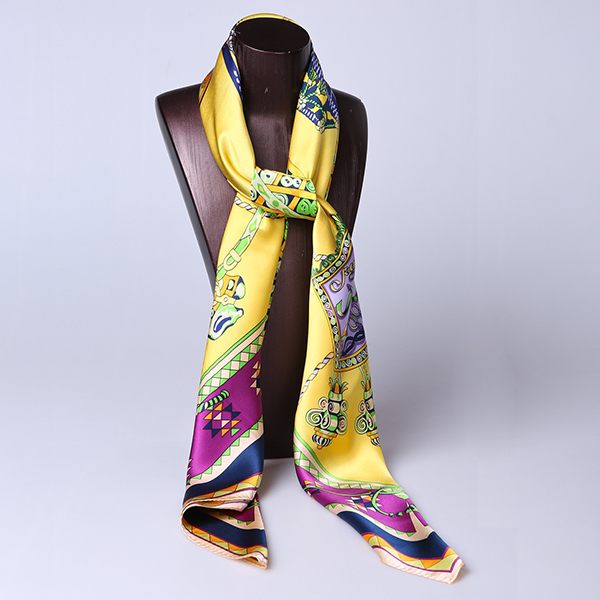 110cm Silk Scarf-Square Silk Scarf-Wholesale Scarfs-HA0022C
