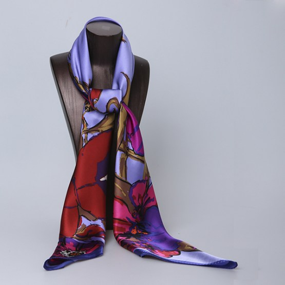 110cm Silk Scarf-Square Silk Scarf-Wholesale Scarfs-HA0028B