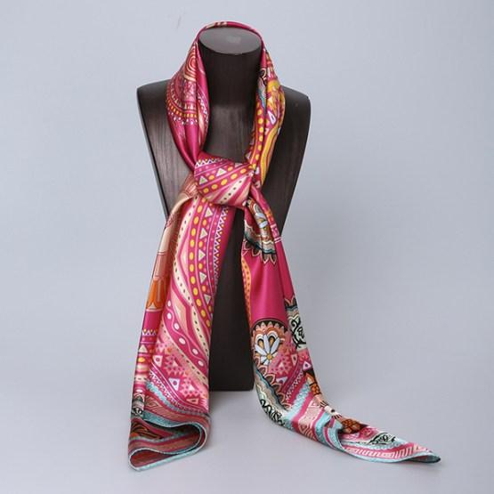 110cm Silk Scarf-Square Silk Scarf-Wholesale Scarfs-HA0029A