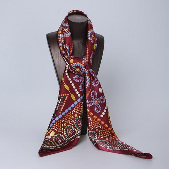 110cm Silk Scarf-Square Silk Scarf-Wholesale Scarfs-HA0030A