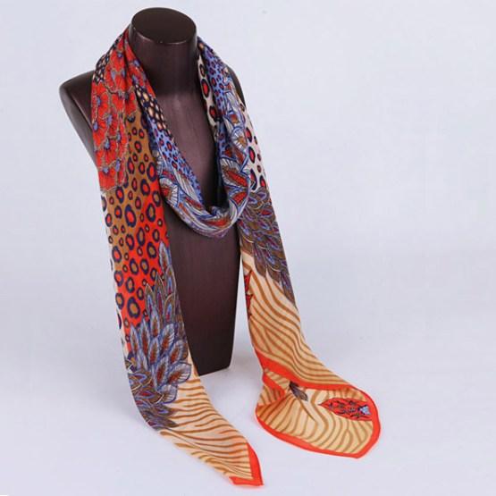 120cm Silk Scarf-Square Silk Scarf-Wholesale Scarfs-HAQ002B