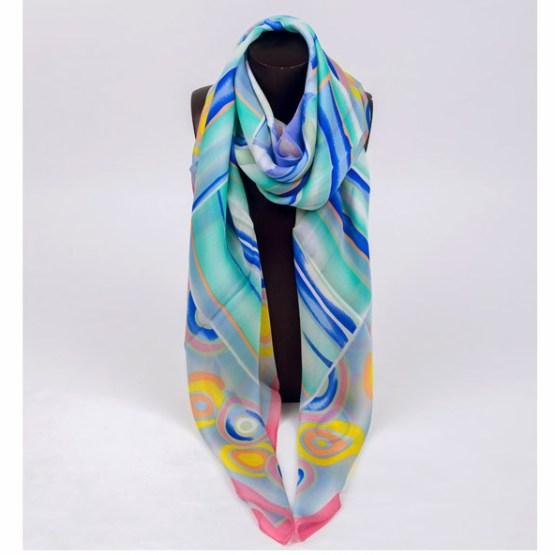 120cm Silk Scarf-Square Silk Scarf-Wholesale Scarfs-HAQ003A