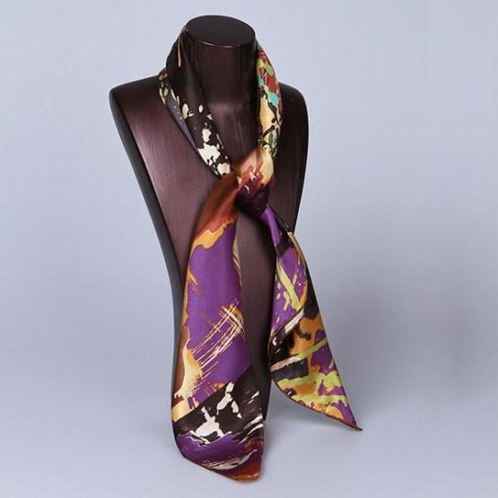 90cm Silk Scarf-Square Silk Scarf-Wholesale Scarfs-HA616E