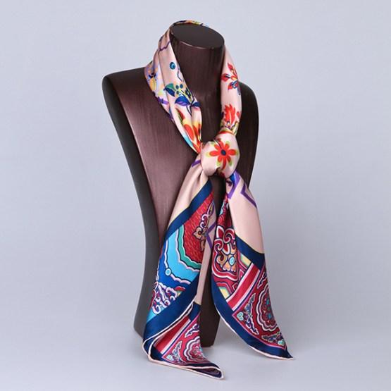 90cm Silk Scarf-Square Silk Scarf-Wholesale Scarfs-HA619B