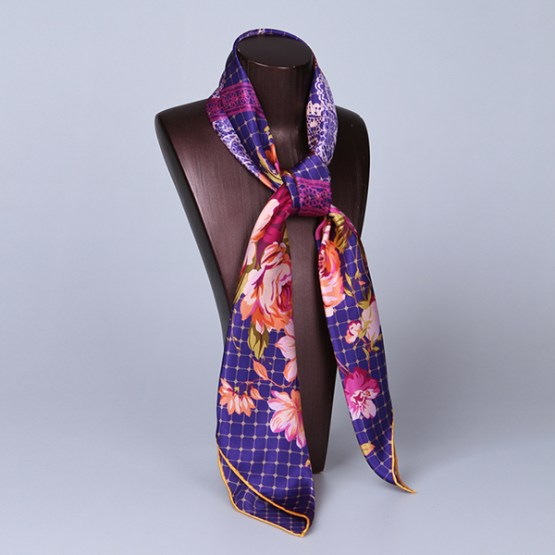 90cm Silk Scarf-Square Silk Scarf-Wholesale Scarfs-HA620D