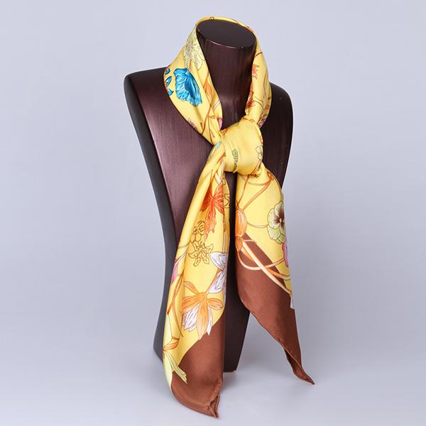 90cm Silk Scarf-Square Silk Scarf-Wholesale Scarfs-HA626C