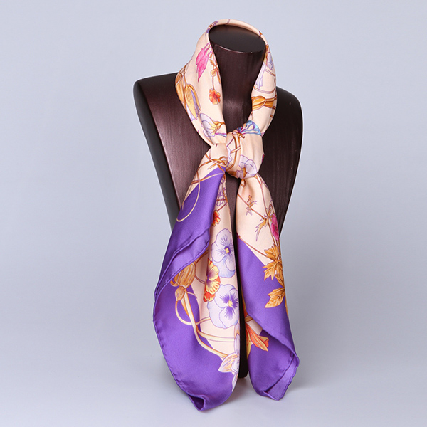 90cm Silk Scarf-Square Silk Scarf-Wholesale Scarfs-HA626D