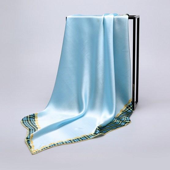 90cm Silk Scarf-Square Silk Scarf-Wholesale Scarfs-HA634D