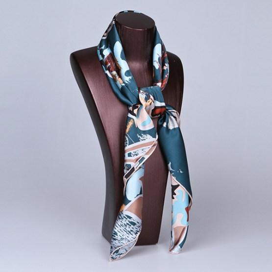 90cm Silk Scarf-Square Silk Scarf-Wholesale Scarfs-HA648D