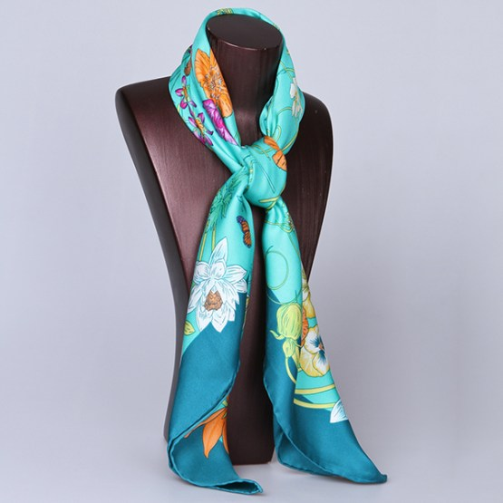 90cm Silk Scarf-Square Silk Scarf-Wholesale Scarfs-HA7010A