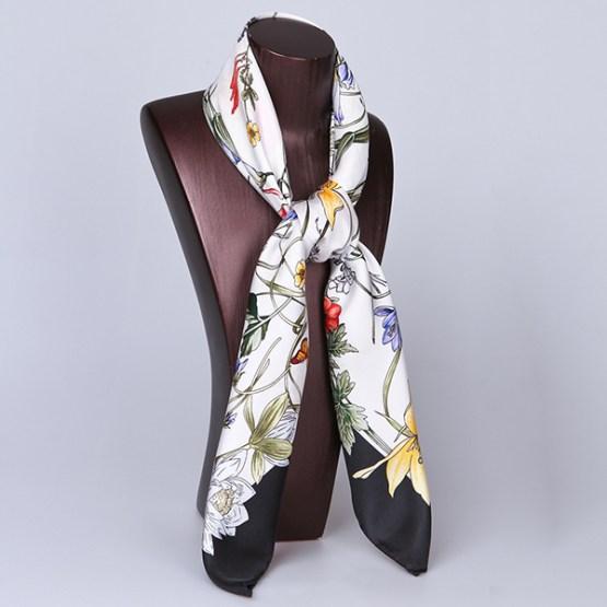 90cm Silk Scarf-Square Silk Scarf-Wholesale Scarfs-HA7010D