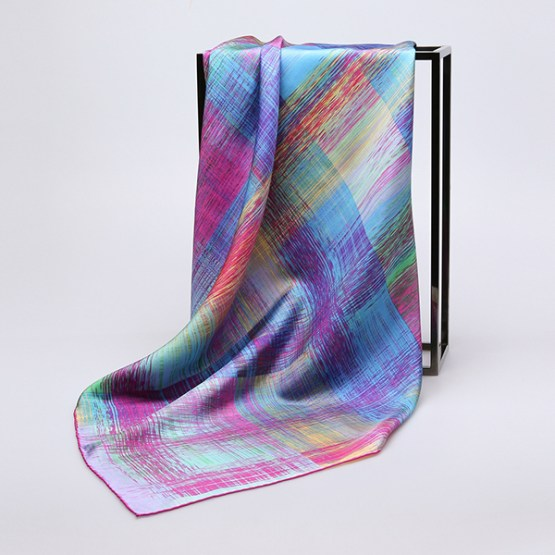 90cm Silk Scarf-Square Silk Scarf-Wholesale Scarfs-HA7012A