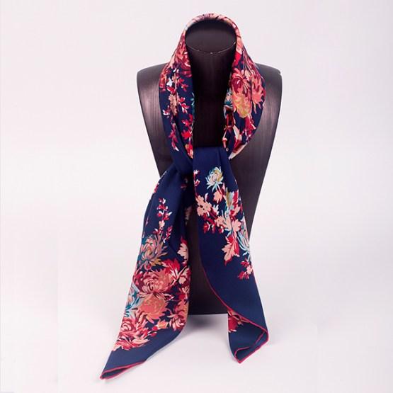 90cm Silk Scarf-Square Silk Scarf-Wholesale Scarfs-HA7018B