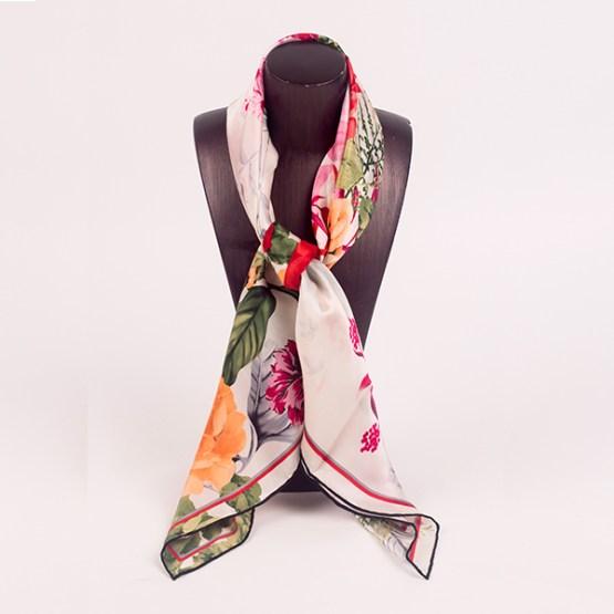 90cm Silk Scarf-Square Silk Scarf-Wholesale Scarfs-HA7019B