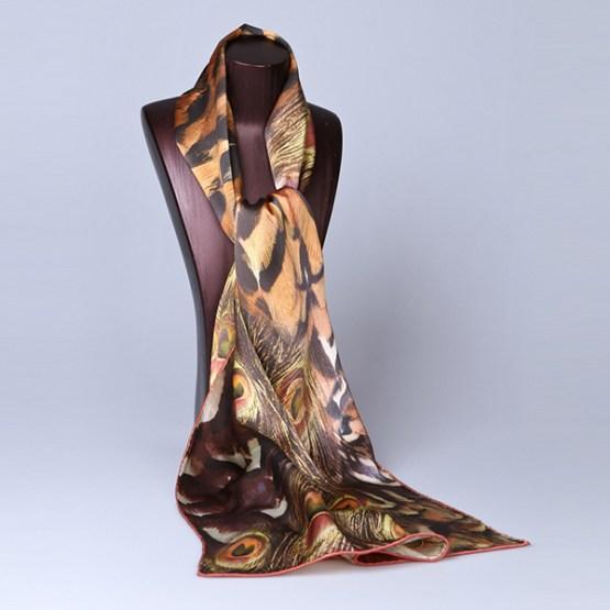 Long Silk Scarf-Digital Silk Scarf-Silk Scarf China-ALL010A
