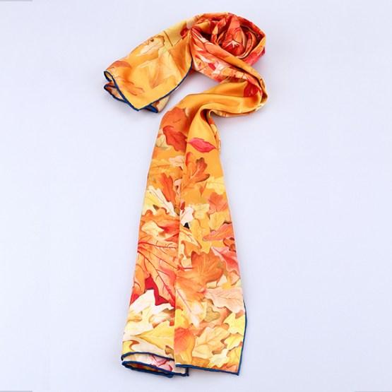 Long Silk Scarf-Digital Silk Scarf-Silk Scarf China-ALL012A