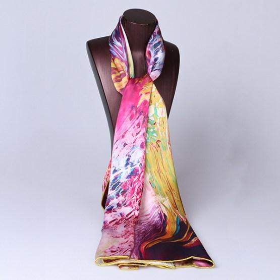 Long Silk Scarf-Digital Silk Scarf-Silk Scarf China-ALL014