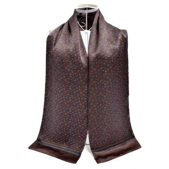 Mens Silk Scarf-Double Layers MSSD011A