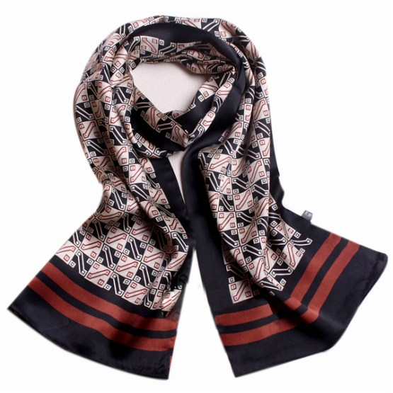 Mens Silk Scarf-Double Layers MSSD012
