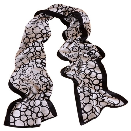 Mens Silk Scarf-Double Layers MSSD013
