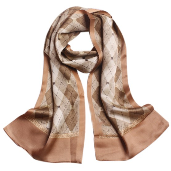 Mens Silk Scarf-Double Layers MSSD016C