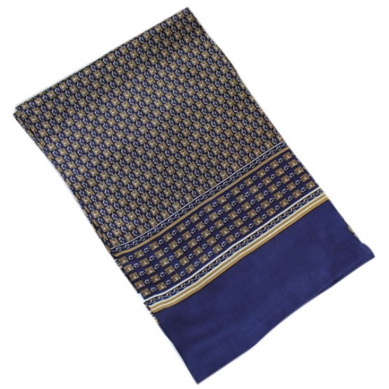 Mens Silk Scarf-Double Layers MSSD018E3