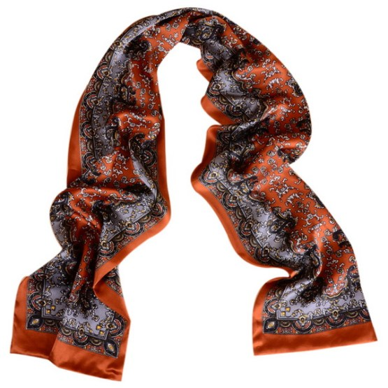Mens Silk Scarf-Double Layers MSSD01B